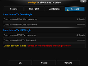 Update CaboInterneTV Guide